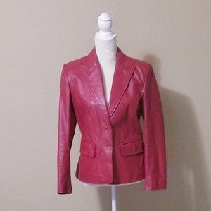 WORTHINGTON  Red Leather Jacket